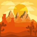 Desert landscape design Royalty Free Stock Images