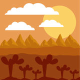 Desert landscape design Stock Images