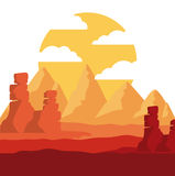 Desert landscape design. Vector illustration eps10 graphic Royalty Free Stock Photography