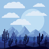 Desert landscape design Royalty Free Stock Photo