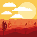 Desert landscape design. Vector illustration eps10 graphic Royalty Free Stock Photos