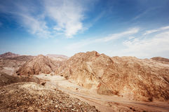 Desert landscape. Dramatic landscape of the Negev desert in Israel royalty free stock image