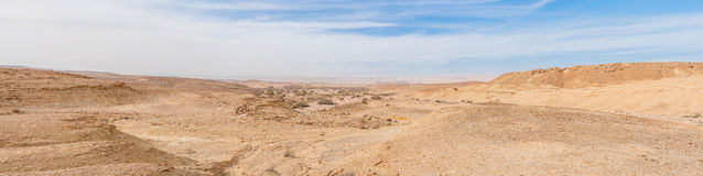 Desert Landscape. Dry and hot landscape of the Negev desert, Israel Royalty Free Stock Photos
