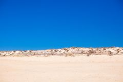 Desert landscape and Exotic view of the Portuguese Stock Photos