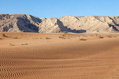 Desert landscape in Fujairah, UAE Royalty Free Stock Image