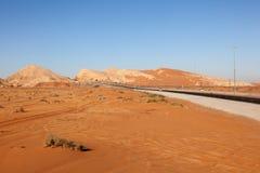 Desert landscape in Fujairah, UAE Stock Image