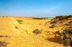 Desert Landscape and Bay Stock Images