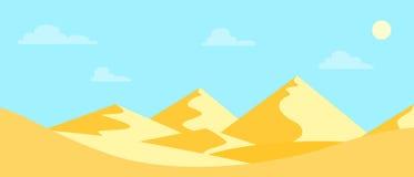 Desert. Landscape hot desert. Flat design. Vector illustration vector illustration