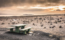 Desert Landscape in Iceland at Sunset Royalty Free Stock Images