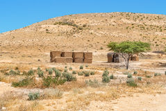 Desert landscape in Israel's Negev desert. Royalty Free Stock Photography
