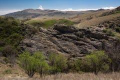Desert landscape in kakheti. Road trip through georgia desert landscape in kakheti royalty free stock image