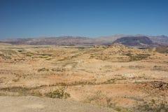 Desert landscape and lake near Las Vegas, Nevada Royalty Free Stock Photos