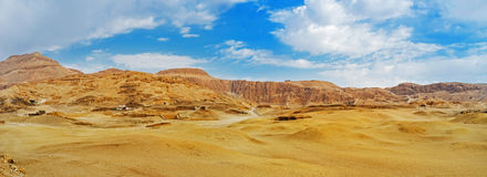 The desert landscape of Luxor Stock Photos