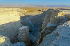 Desert landscape, and marlstone rock formation Royalty Free Stock Images
