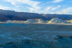 Desert landscape, and marlstone rock formation Stock Photography