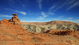 Desert landscape at mexican hat, Utah Royalty Free Stock Image