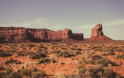 Desert landscape of the Monument Valley, Utah. Natural Parks of North America Royalty Free Stock Images