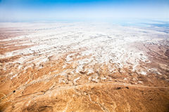 Desert landscape near the Dead Sea seen from Masada fortress Royalty Free Stock Image