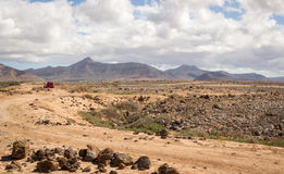 Desert landscape near El Cotillo, Fuerteventura, Spain Stock Photos