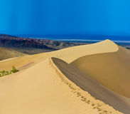 Desert landscape panorama dunes Stock Photo