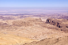 Desert landscape of Petra - jordan Royalty Free Stock Photos