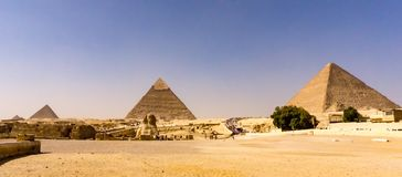 Landscape of the pyramids in Giza, Egypt Royalty Free Stock Photos