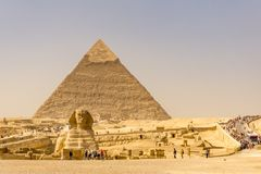 Landscape of the pyramids in Giza, Egypt royalty free stock image