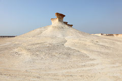 Desert landscape in Qatar Royalty Free Stock Photography