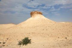 Desert landscape in Qatar Stock Image