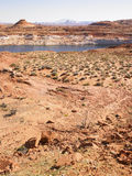 Desert Landscape with River in Background Stock Images