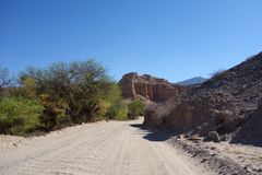 Desert landscape - RN40 / national road 40 stock images