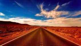 Desert, Landscape, Road, Highway Stock Photography