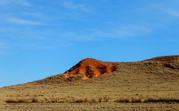 Wilderness landscape desert on the mountain of New Mexico. Desert landscape s on the mountain of New Mexico stock photo