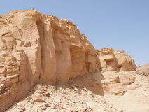 Desert landscape of Sinai Peninsula Royalty Free Stock Photo