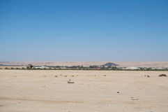 Desert Landscape with Small Settlement near Swakopmund, Namibia Royalty Free Stock Photography