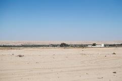 Desert Landscape with Small Settlement near Swakopmund, Namibia Stock Photos