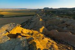 Desert landscape   in summer morning. Navarra Royalty Free Stock Images