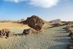 Desert landscape of Tenerife. Stock Photos