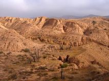 Desert landscape in Tunisia. Africa Royalty Free Stock Photography