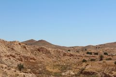 Desert landscape in Tunisia royalty free stock photography