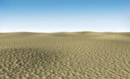 Desert landscape under sun light - 3D rendered image Royalty Free Stock Images