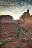 Desert landscape of Utah. A scenic view of Arches National Park in Utah, United States Royalty Free Stock Photos
