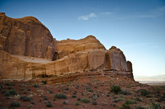 Desert landscape of Utah. A scenic view of Arches National Park in Utah, United States Stock Photos