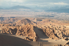 Desert landscape of Valley of Mars. Atacama Desert - Chile Stock Photography