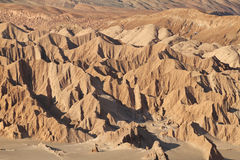 Desert landscape of Valley of Mars. Atacama Desert - Chile Royalty Free Stock Photo