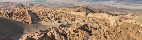 Desert landscape of Valley of Mars. Atacama Desert - Chile Stock Images