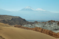 Desert landscape of Valley of the Moon Stock Image