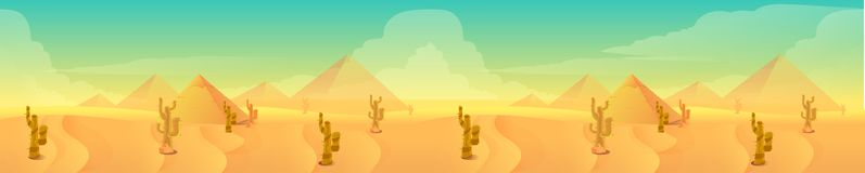 Desert landscape, Vector illustration for your design Stock Photo