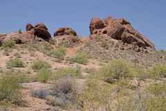 Desert Mountain Landscape with Cloudless Sky Royalty Free Stock Photos