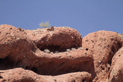 Desert Mountain Landscape with Cloudless Sky Royalty Free Stock Photo